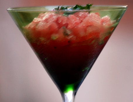 Watermelon & Peperoncini Honey Granita