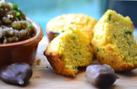 Zucchini Polenta Cakes