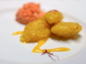 saffron baccala fritters